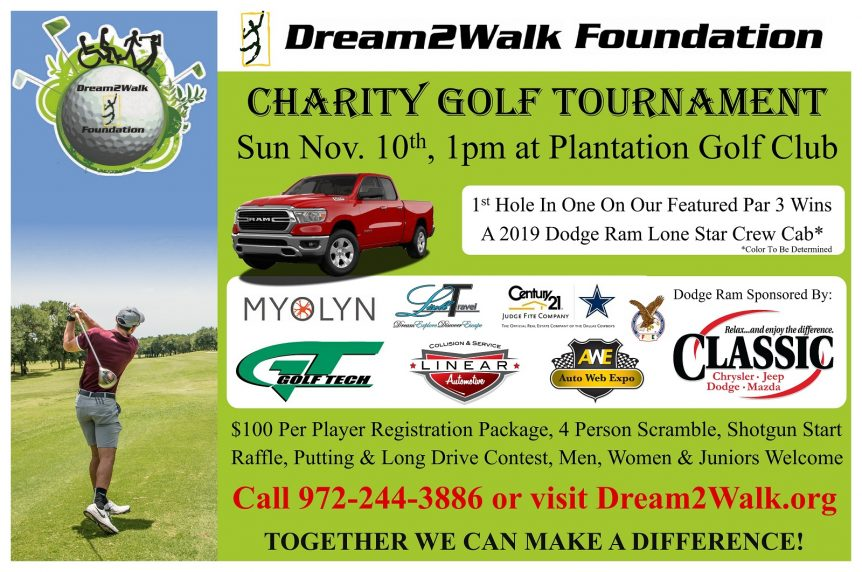 Dream2Walk Foundation Charity Golf Tournament 2019
